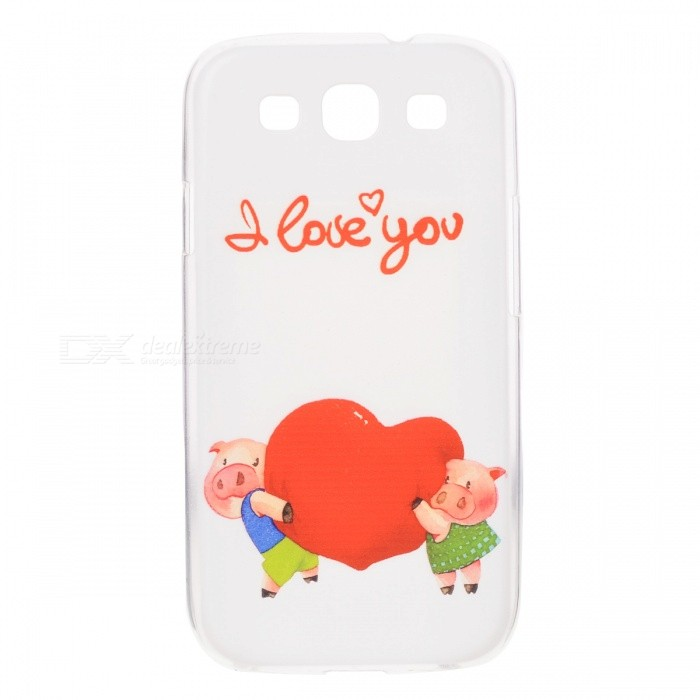 Kinston Cartoon Cartoon Pattern Custodia posteriore in plastica per Samsung Galaxy S3 I9300 - Bianco + Multi-Color