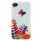 Kinston kst01226 Butterfly Oil Painting Pattern Protective Plastic Back Case for IPHONE 4 / 4S