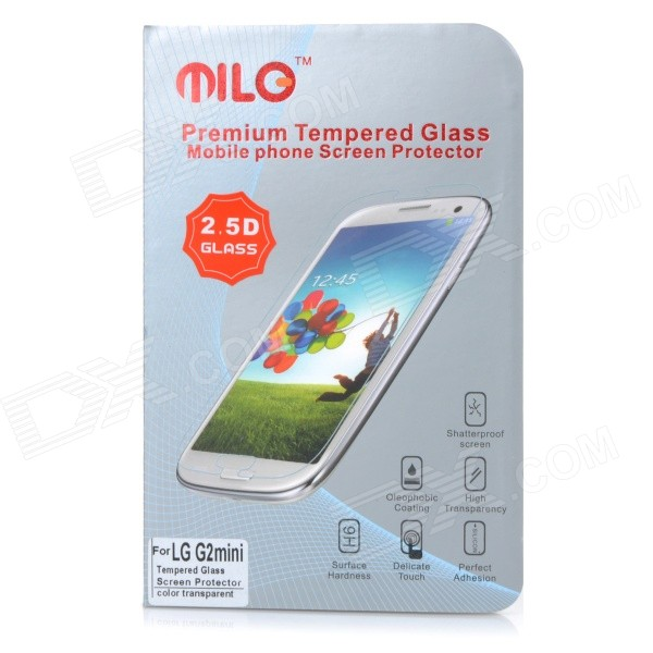 MILO 0.3mm 2.5D Clear Tempered Glass Screen Protector Film Guard for LG G2 Mini - Transparent protective matte frosted screen protector film guard for nokia lumia 900 transparent