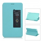 Protective Flip Open PU + PC Case w/ Stand / Sleep Function for Huawei Honor X1 - Blue