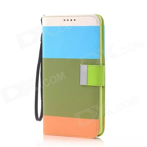 Fashion Colorful PU + TPU Flip Open Case w/ Stand / Strap / Card Slot for Samsung Galaxy Note 4 protective flip open pu case w stand card slots for samsung galaxy s4 active i9295 black