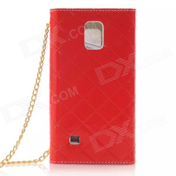 HaMessenger Bag Style PU + TPU Flip Open Case w/ Card Slots for Samsung Galaxy Note 4 - Red protective flip open pu case w stand card slots for samsung galaxy s4 active i9295 black