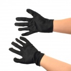 Halloween's Makeup Ghost Hand Gloves - Black + White (Pair)
