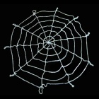 Halloween's Makeup Fleece Cobweb - White