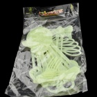 Skull Skeleton Style Glow-in-the-Dark Gadget for Halloween - Green (Size L)