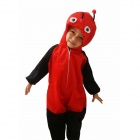 Ladybird Ladybug Style Coverall Suit - Red + Black
