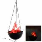 8W 420lm 2-LED Punainen Artificial Flame hiilipannun Electronic Halloween Decoration valaisin-Musta