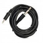 3.5mm Male to 6.35mm Male Audio Connection Cable - Black (3.15m)