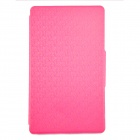 Maze Grain PU + TPU Protective Case w/ Card Slot for Samsung Galaxy Tab S T700 - Deep Pink