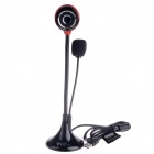 RAYANTS LY-8819 10.0MP HD Webcam w/ Night Vision Light / Microphone for Desktop PC - Black + Red