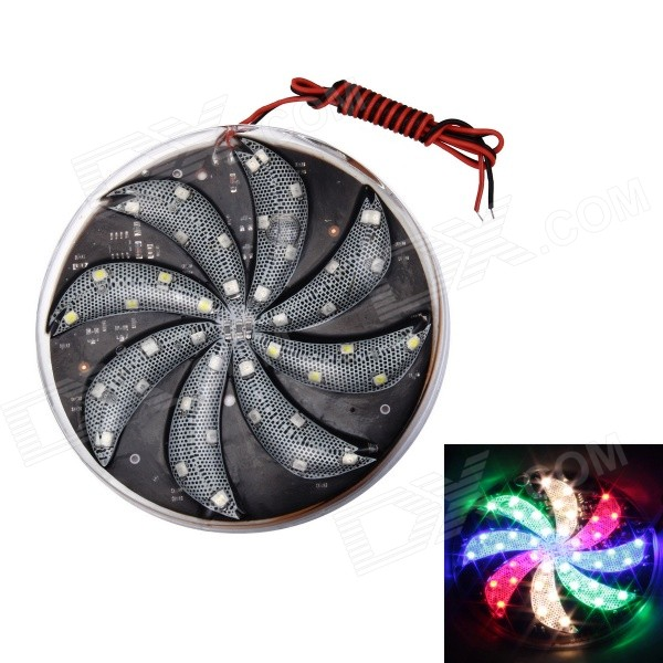 Merdia 12V 15W 230LM 10CM Super Bright 4-LED Color Decoration Light for Motorcycle