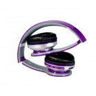 S450 Foldable Wireless Bluetooth V2.1 + EDR Bass Headphone - Purple