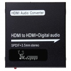 AOLUGUYA 1080P HDMI to HDMI + Digital Audio Converter w/ Support SPDIF + COAXIAL + 3.5mm Stereo
