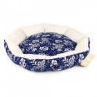 YDL-Y3W006-M Fashionable Porcelain Style Nest Bed for Pet Cat / Dog - Deep Blue + White (Size M)