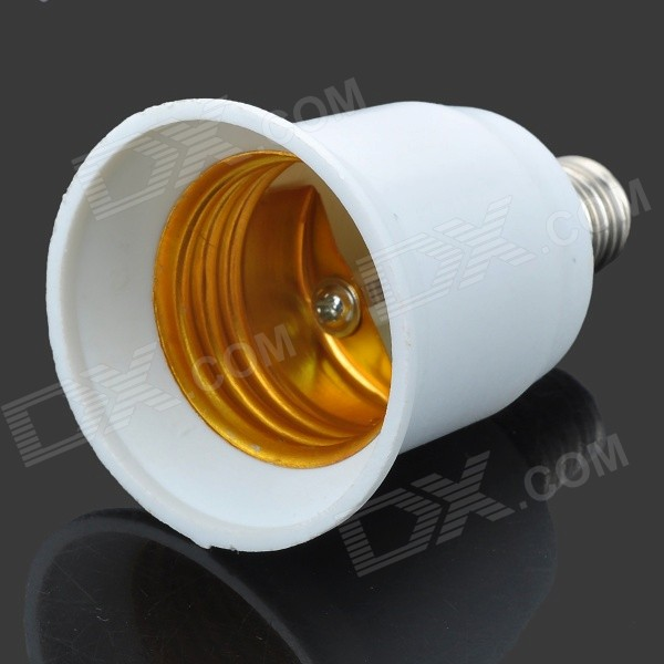 Pandaoo E12 to E27 LED Light Lamp Screw Bulb Socket Holder Base - White