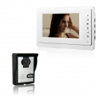 "XYY-V70F-L 7"" TFT Color Video Door Phone w/ Alloy Weatherproof Cover and Night Vision Camera - White"