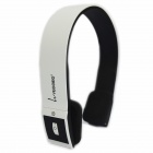 VEGGIEG V6100 Bluetooth V4.0 + EDR Headphone w/ Microphone - White + Black