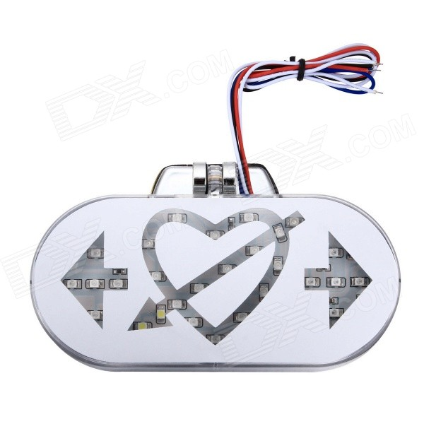 Merdia 2W 250lm 3528 SMD LED Ornamental Festoon Lamp Steering Light for Motorcycle - White