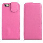 "ENKAY Protective Top Flip Open PU Leather + Plastic Case for IPHONE 6 4.7"" - Pink"