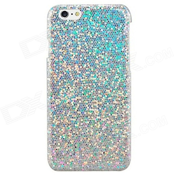IPY-I6-003 Stunning Flashing Paillette Decorated Plastic Back Case for IPHONE 6 4.7 - Silver