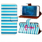 "Anchor Patterned Flip-Open PU + PC Case w/ Stand + Card Slot for IPHONE 6 4.7"" - Blue + White"