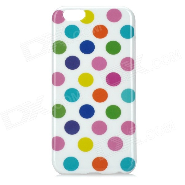 Colorful Dots Pattern Silicone Back Case for IPHONE 6 4.7 - White colorful bubble pattern protective silicone back case for iphone 5 5s black blue multicolor