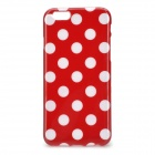 "Dots Pattern Silicone Back Case for IPHONE 6 4.7"" - Red + White"