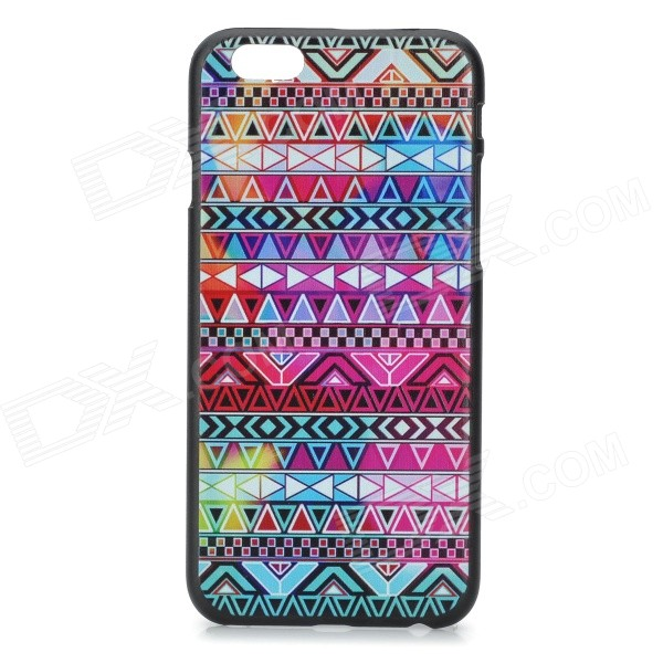 "Geometric Pattern Fashion Back Case for IPHONE 6 4.7"" - Black + Red"