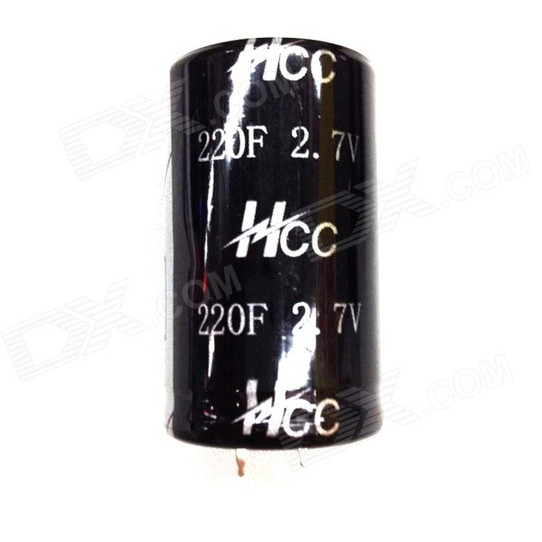ZnDiy-BRY 2.7V/220F Super Electrolytic Capacitor - Black