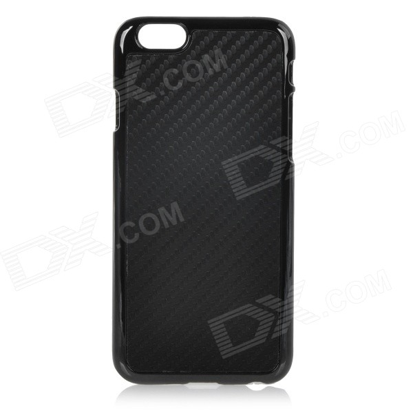 Protective Plastic Back Case Cover for IPHONE 6 4.7 - Black loopee good heat dissipation hollow mesh plastic case cover for iphone 6 6s 4 7 inch black