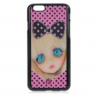 "3D Blinking Girl Patterned Protective Back Case Cover for IPHONE 6 4.7"" - Black + Pink + Multi-color"