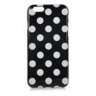 "Stylish Polka Dot Style Protective Silicone Back Case Cover for IPHONE 6 4.7"" - Black + White"
