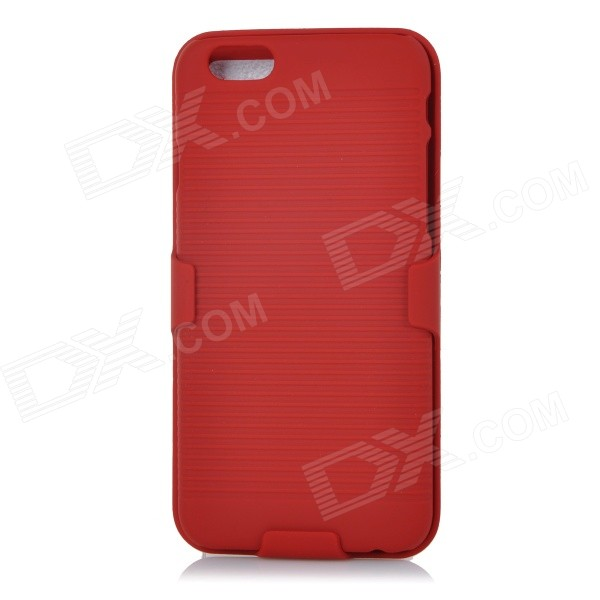"DULISIMAI Protective PC + Plastic Back Case w/ Clip Holder for IPHONE 6 4.7"" - Red от DX.com INT"