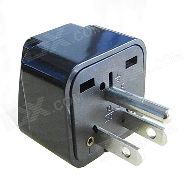 WD02A 110~240V US Plug Power Travel Adapter - Black