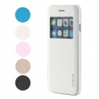 "ROCK Protective Flip Open PU + PC Case w/ Display Window / Auto Sleep for IPHONE 6 4.7"" - White"