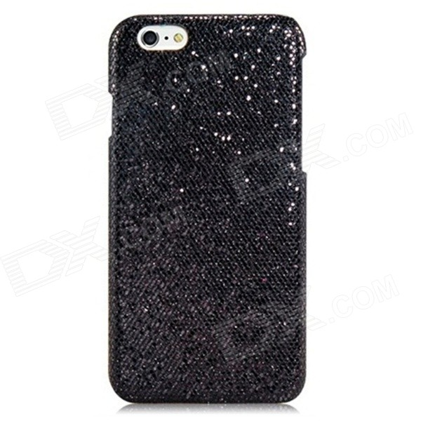 Stunning Flashing Paillette Decorated Plastic Back Case for IPHONE 6 4.7 - Black - DXPlastic Cases<br>Color Black Shade Of Color Black Brand N/A Model IPY-I6-003 Quantity 1 Piece Material PC + PU Compatible Models IPHONE 6 Design Solid ColorShimmering Power Style Back Cases Packing List 1 x Case<br>