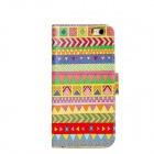 Tribe Pattern Protective PU + PC Flip Open Case w / Stand / Card Slots für iPhone 6 4.7 ""