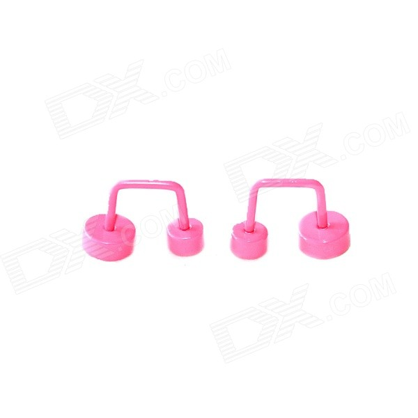 Double-Circle Stud Earrings - Deep Pink (2 PCS)