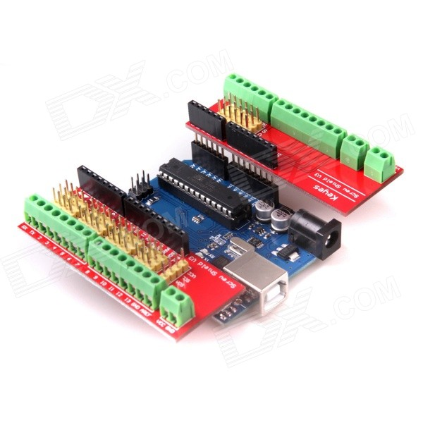 Screw Shield V3 Stud Terminal Expansion Board + UNO R3 for Arduino modules genuine for intel galileo gen 2 development board quark soc x1000 400mhz 256m compatible with arduino uno r3 shield