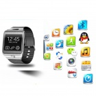 Quad-band GSM Watch Phone w/ 128MB RAM, 64MB ROM - Black + Silver