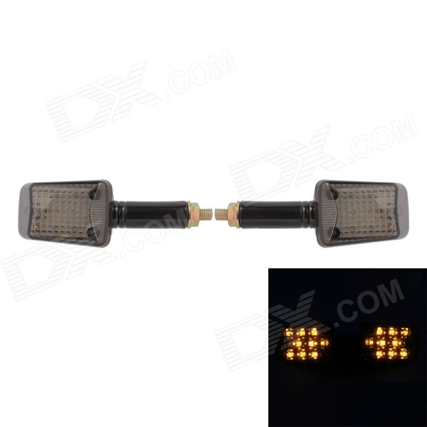 MZ Universal 0.4W 40LM 8-LED Yellow Light Motorcycle Steering Lamp (12V / 2 PCS)