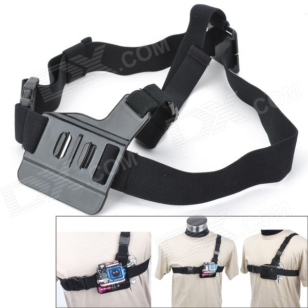 Sportguard H11 Elastic Front Chest / Shoulder Strap for Gopro Hero 4/ 3+ / 3 / AEE SD20 / SD21 / SJ4000 pannovo waterproof pu leather extra thick anti shock eva case for gopro hero 4 3 3 2 sj4000