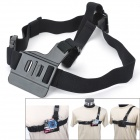 SMJ H11 Elastic Front Chest / Shoulder Strap for Gopro Hero 4/ 3+ / 3 / AEE SD20 / SD21 / SJ4000