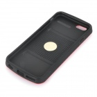 "Creative Suitcase Style Protective PC Back Case Cover for IPHONE 6 4.7"" - Red + Black"