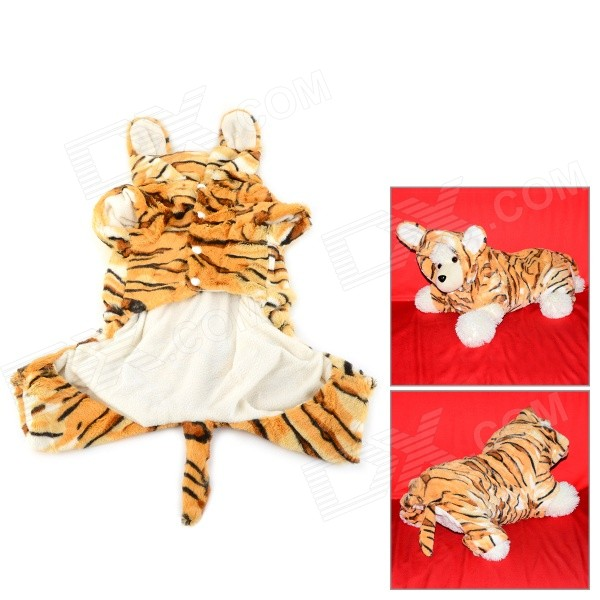 Halloween Tiger Style Cotton Coat for Pet Cat / Dog - Yellow + White (Size L) игрушка букварята ь