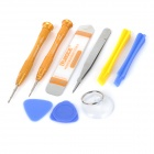Universal 9-in-1 Repair Tool Kit for IPHONE 6 / Cellphones - Golden + Blue + Multicolor