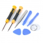 Universal 8-in-1 Repair Tool Kit for IPHONE 6 / Cellphones - Yellow + Black + Blue