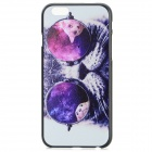 "Cat Wearing Glasses Pattern Protective Plastic Back Case for IPHONE 6 4.7"" - White + Multicolored"