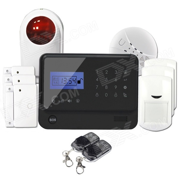 GS-X1 APP Control 4-Channel Wireless GSM Home Alarm System - Black free shipping hot wireless gsm home alarm system wireless garage alarm systems with auto dialing dialer sms call remote contro