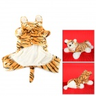 Halloween Tiger Style Cotton Coat for Pet Cat / Dog - Yellow + White (Size S)